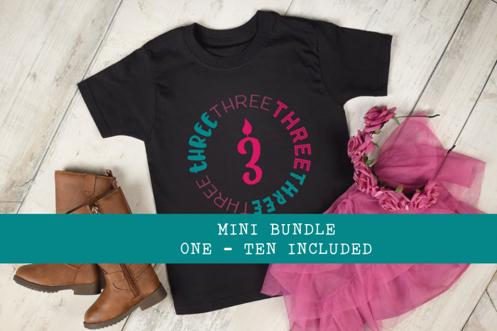 Birthday Bundle - Ages 1 - 10 Shirt Designs