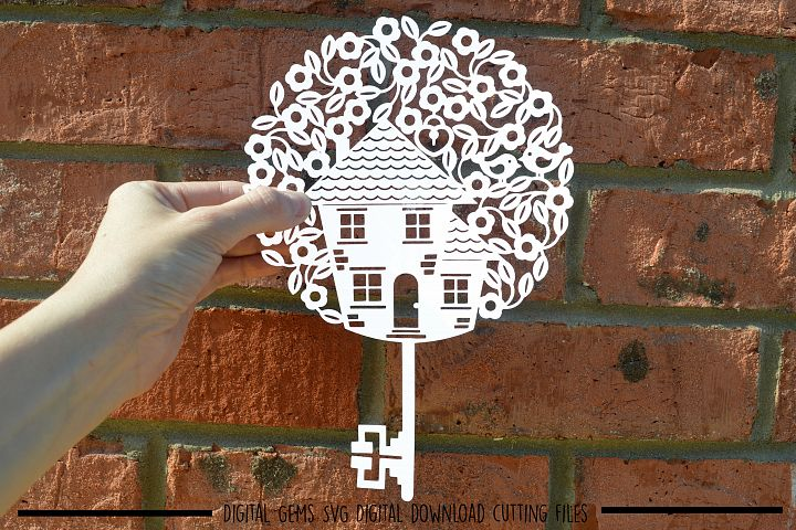 Housewarming key paper cut SVG / DXF / EPS files