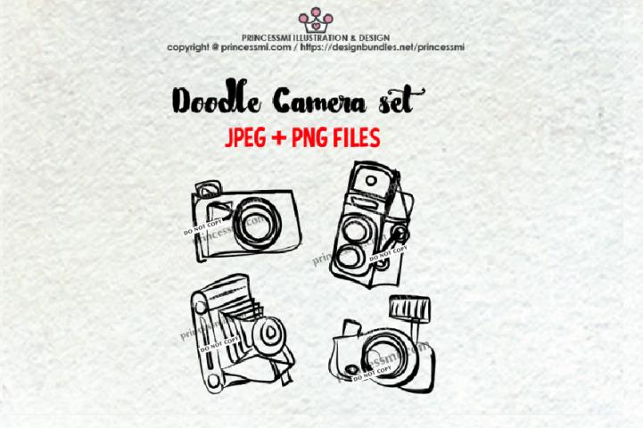 doodle camera clipart set 3