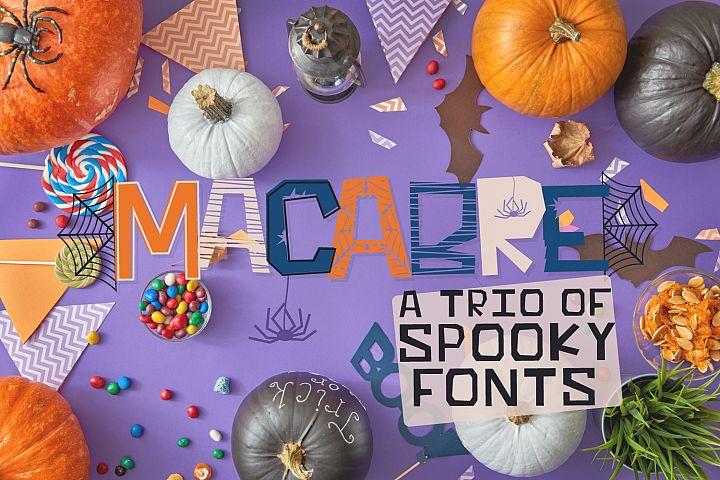 MACABRE - A Spooky Font Trio