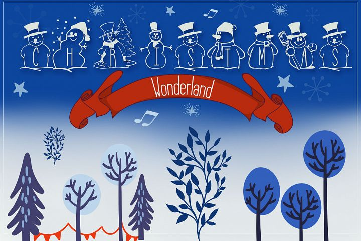 Christmas Wonderland - Christmas Font & Bonus