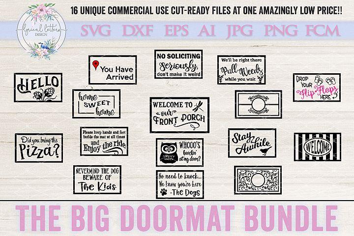 The Big Doormat Bundle of 16 SVG Cut Files LLBB004