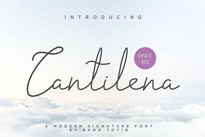 Cantilena - Signature Font
