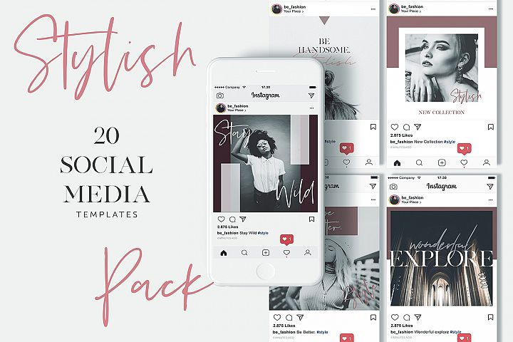 Stylish Social Media Pack - Instagram