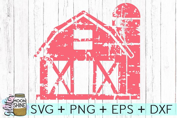Distressed Barn SVG DXF PNG EPS Cutting Files