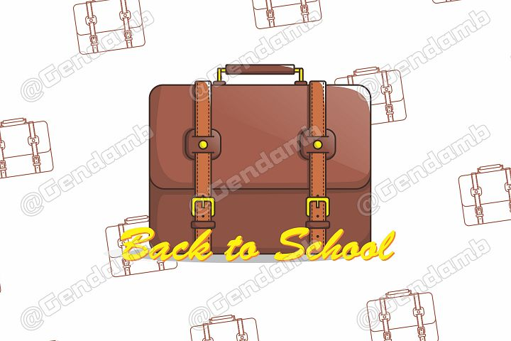 Suite Case Illustration | Back to School