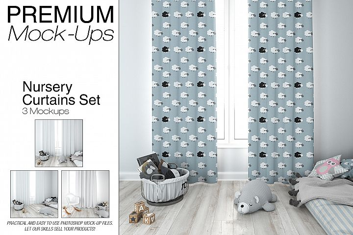 Kids Room - Curtains Mockup Pack