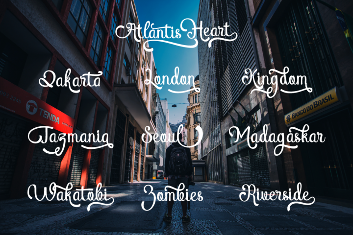 Atlantis Heart - Free Font of The Week Design 3