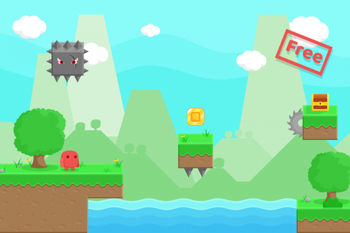 Free Platform Game Assets + GUI example 3
