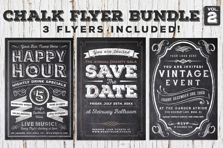 Chalk Flyer Bundle Vol. 2 (60% off)
