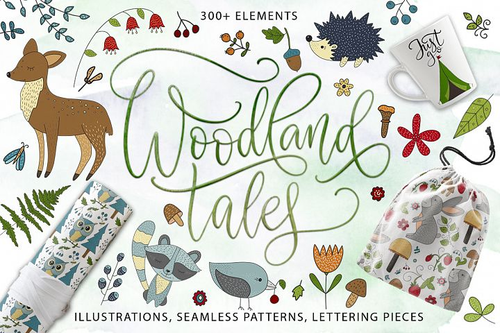 Woodland Tales. Big graphic set.