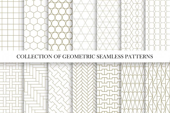 Vector geometric seamless patterns I