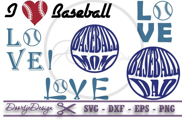 Love Baseball SVG
