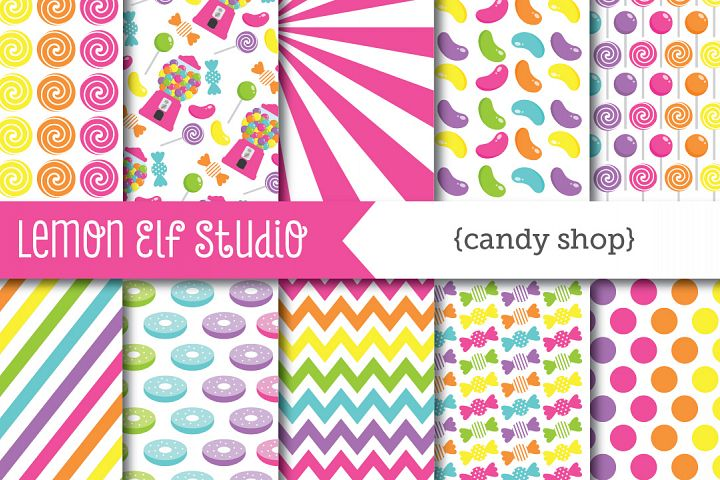 Candy Shop-Digital Paper (LES.CL05B)
