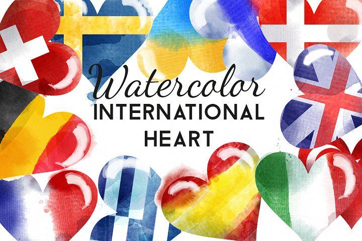 watercolor international heart