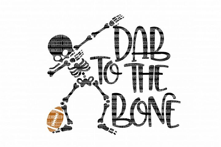 Dab To The Bone Football SVG