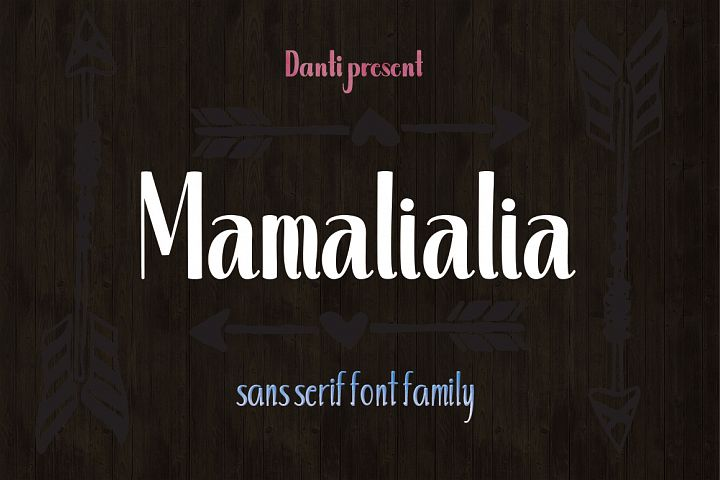 Mamalialia Font Family