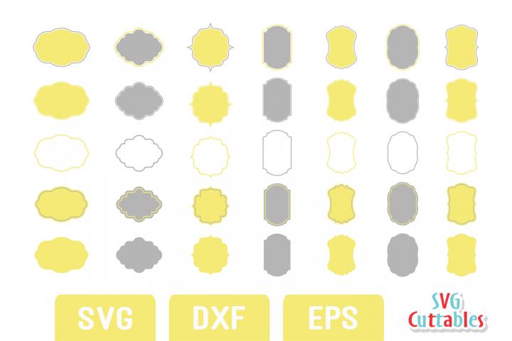Frames SVG - Labels SVG set C