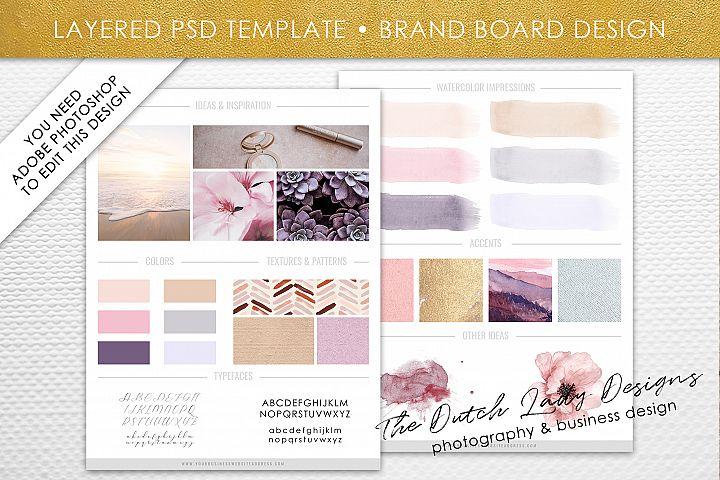 PSD Brand & Design Board Template - Design #1