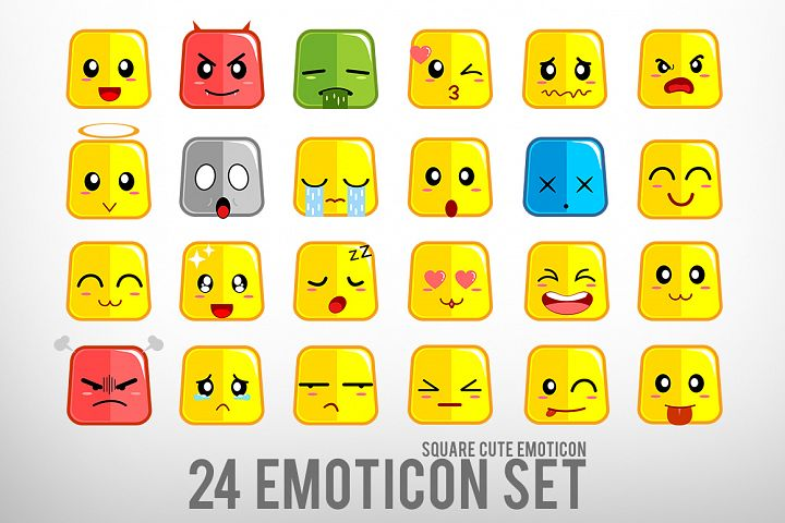 Square Cute Emoticon