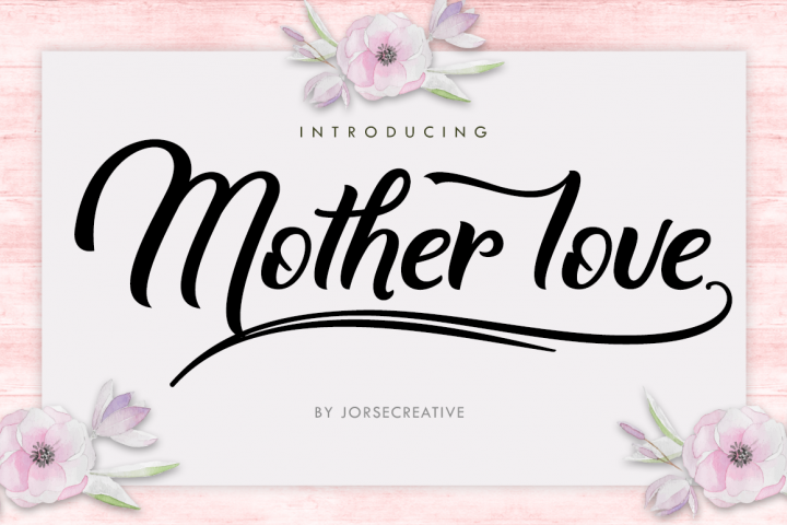 Mother love - Free Font of The Week