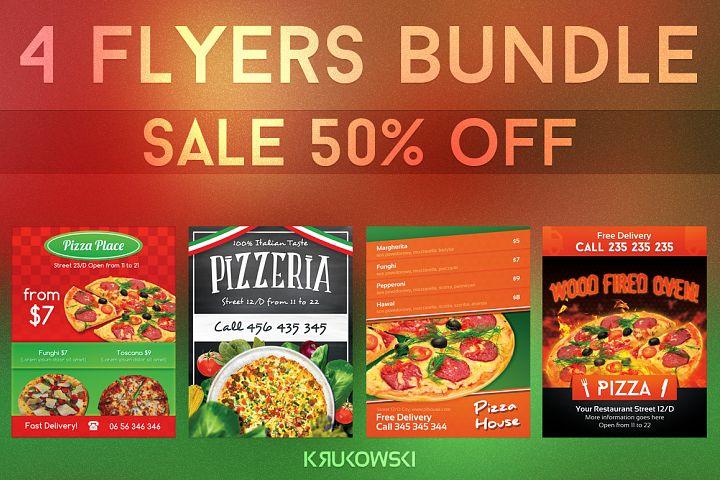 Pizzeria Flyers Bundle