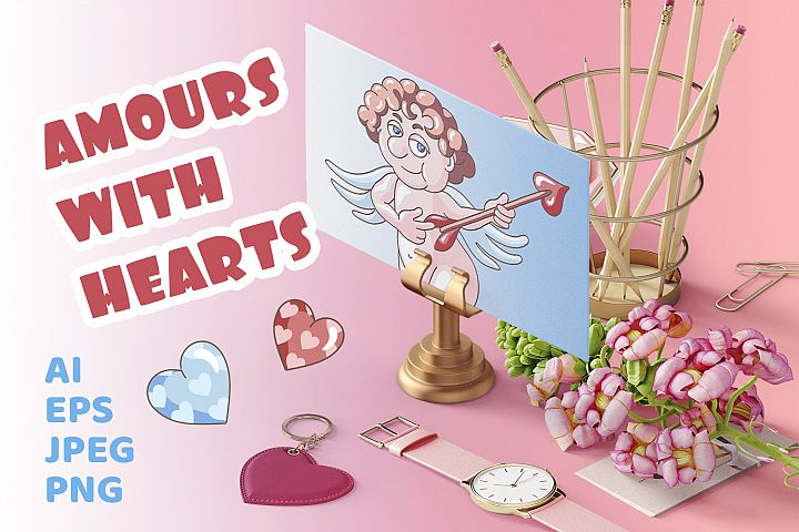 Amours with hearts