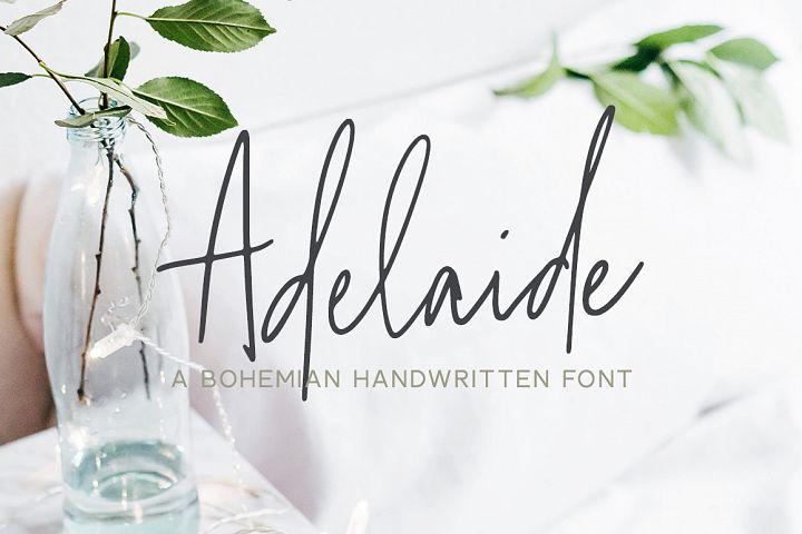 Adelaide | A Bohemian Handwritten Font