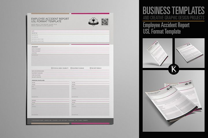 Employee Accident Report USL Format Template