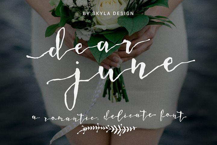 A Romantic font - Dear June