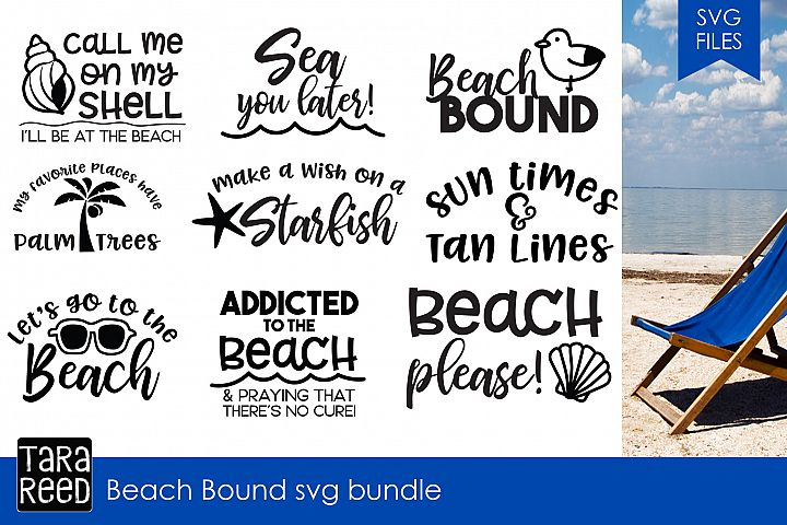 Beach Bound svg bundle