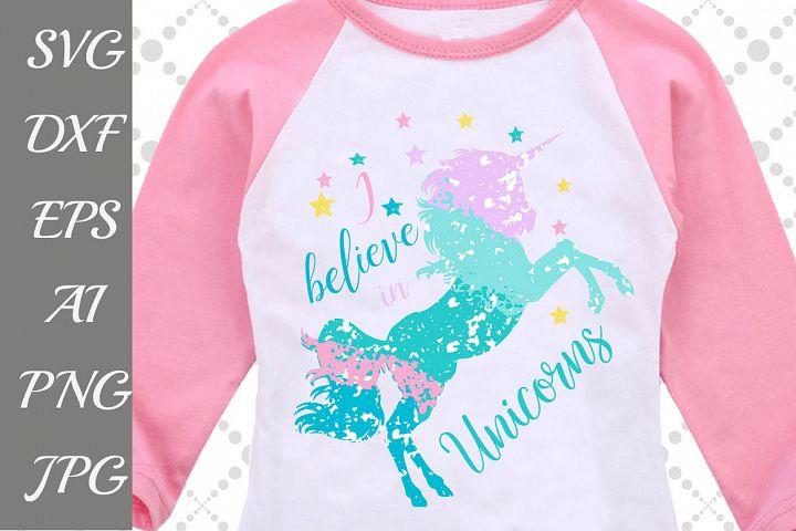 I Believe In Unicorns Svg: OMBRE UNICORN SVG Grunge Svg,