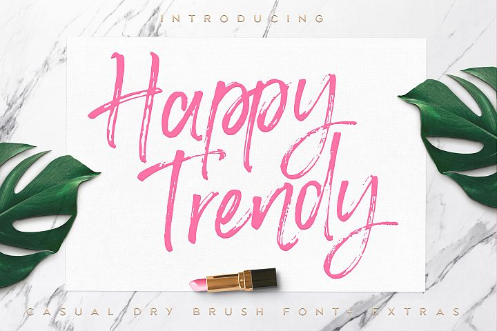 Happy Trendy Font + Extras