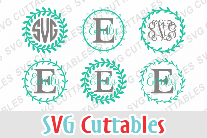 Floral Wreath Monogram Frames