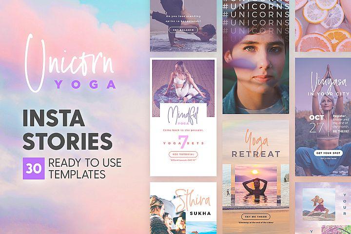 Instagram Stories - Unicorn Yoga Ed