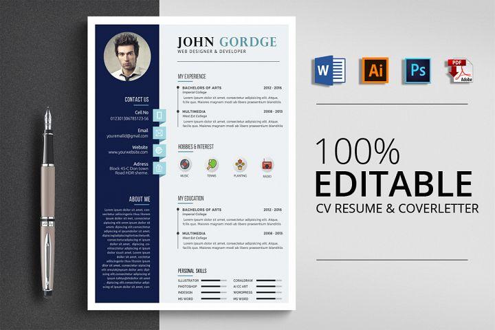 CV Resume 4 Format File