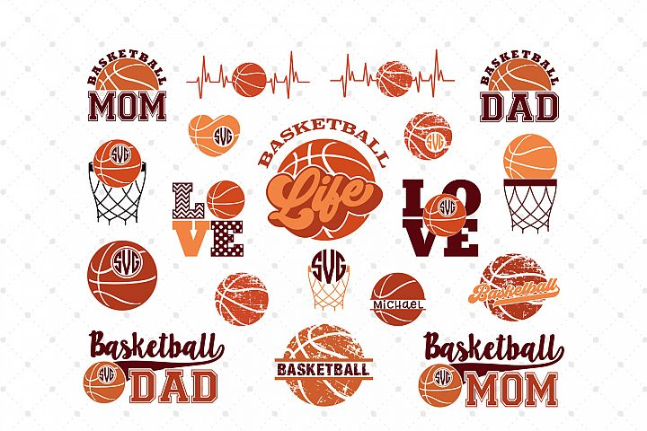 Basketball Mini Bundle SVG Cut Files
