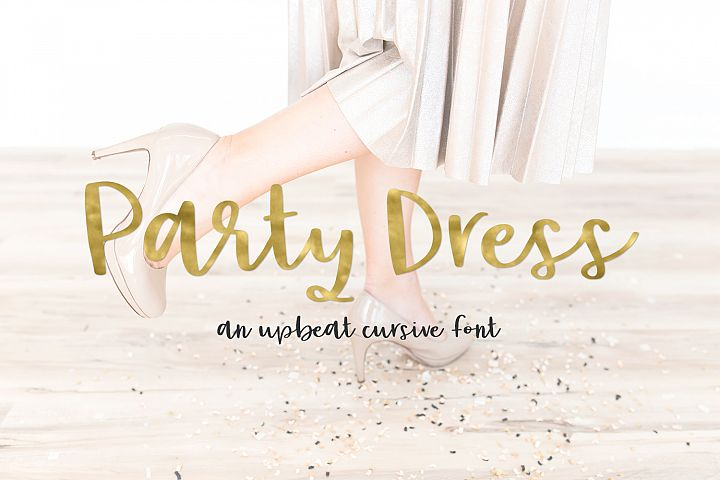 Party Dress Cursive Font