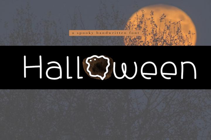 Halloween - A Spooky Handwritten Font