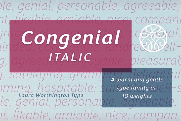 Congenial Italic Regular