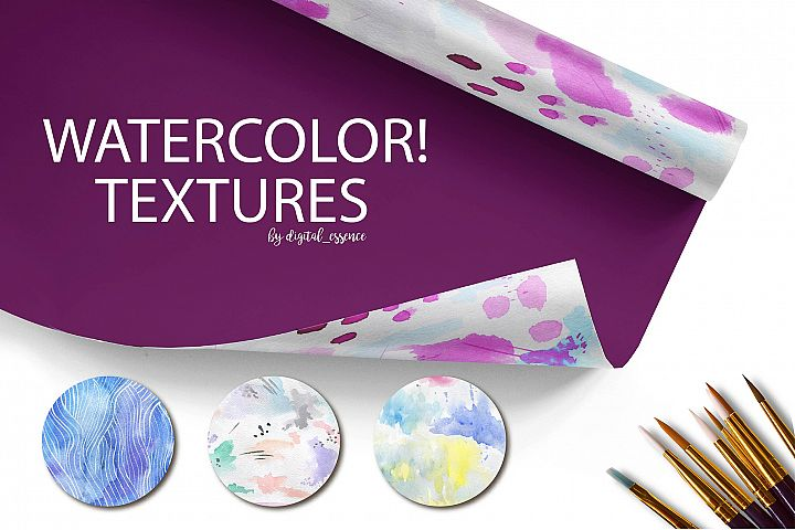 69  Watercolor textures backgrounds!