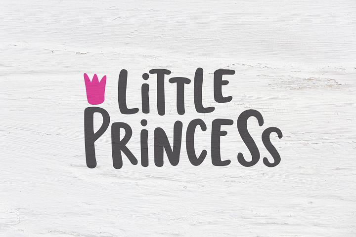 Little Princess, Kids SVG, EPS, PNG, DXF
