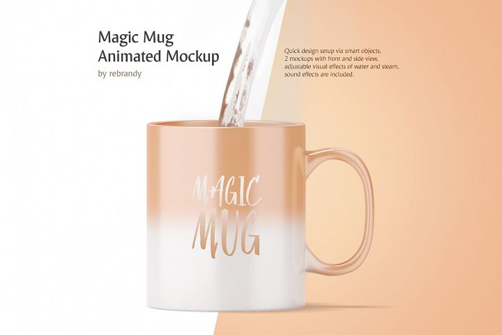 Magic Mug Animated Mock up (Color Changing Morphing Magical Mug Mockup)