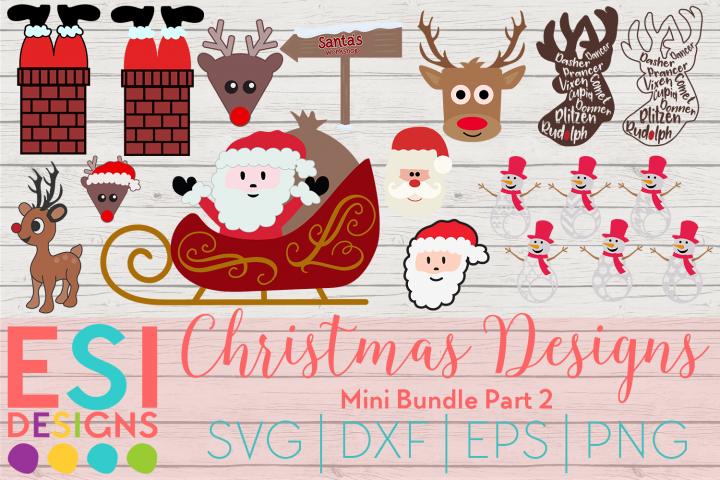 Christmas Designs Mini Bundle Part 2| SVG DXF EPS PNG
