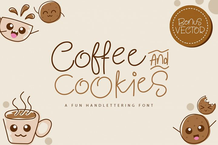 Coffee and Cookie Font