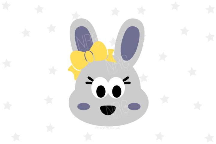 Girl Bunny Head SVG File