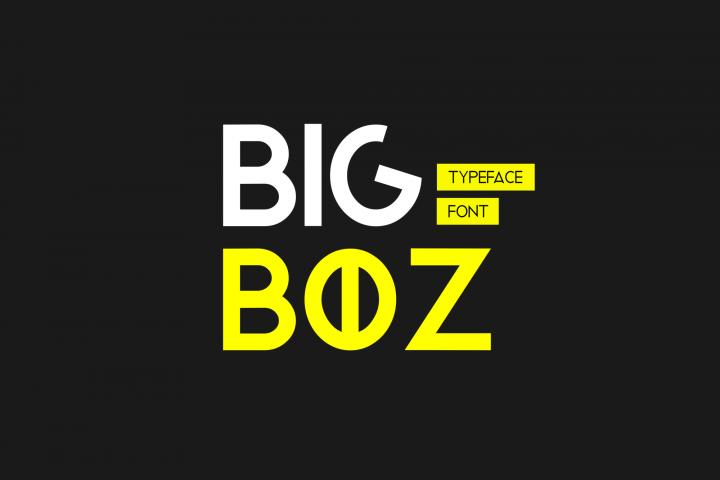 Bigboz Typeface Font