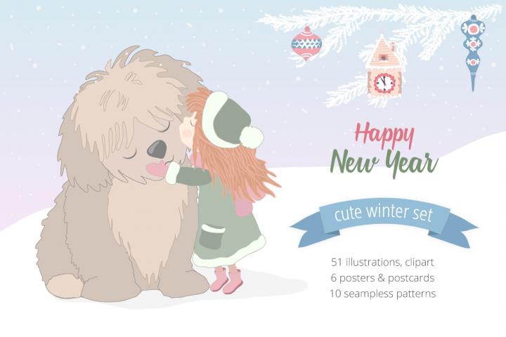 New Year Illustration Set
