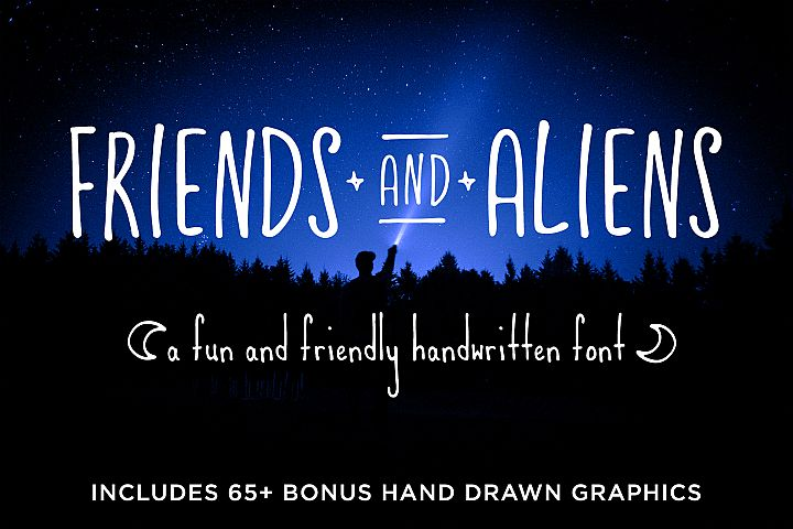 Friends & Aliens Font