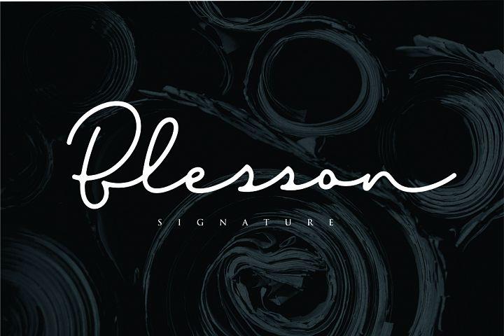 Blesson - Signature Font